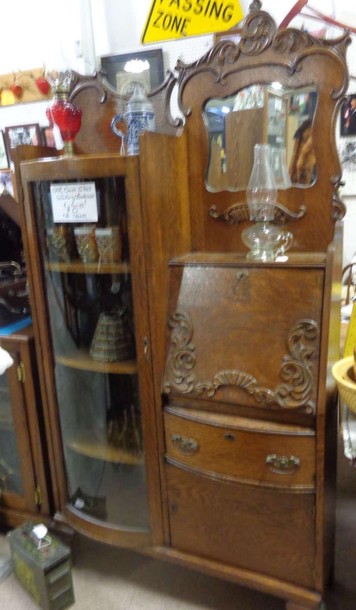 Antique Oak Secretary Bookcase Antique Warehouse